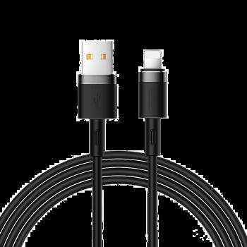 KABEL USB/LIGHTNING SILIKONOWY JOYROOM CZARNY