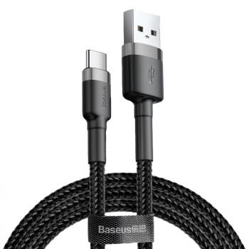 KABEL USB/USB-C NYLONOWY BASEUS CZARNO-SZARY