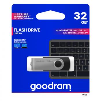PENDRIVE GOODRAM UTS3 32GB USB 3.0 CZARNY